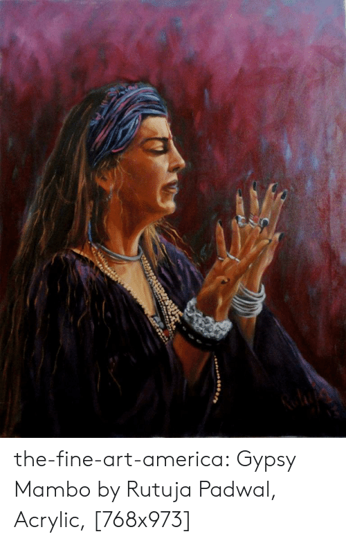 America, Tumblr, and Blog: the-fine-art-america:  Gypsy Mambo by Rutuja Padwal, Acrylic, [768x973]
