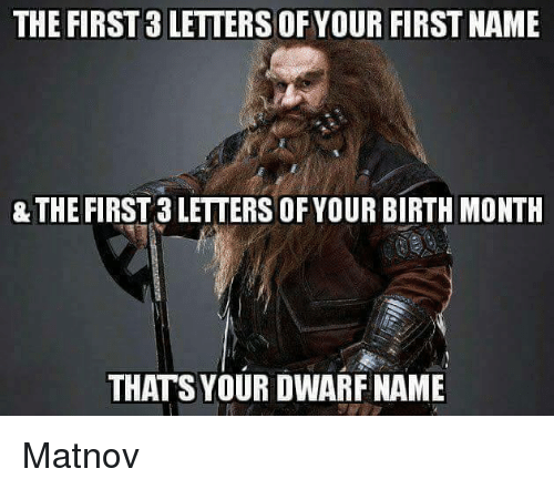 The FIRST 3 LETTERS OF YOUR FIRST NAME & THE FIRST 3
