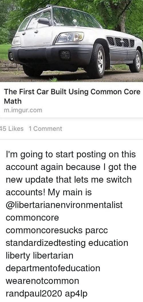The First Car Built Using Common Core Math Mlmgur Comm 45 Likes 1 ...