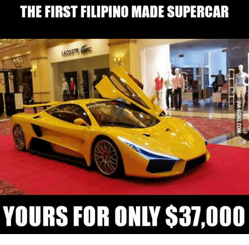 New Supercars: The FIRST FILIPINO MADE SUPERCAR YOURS FOR ONIY $37000