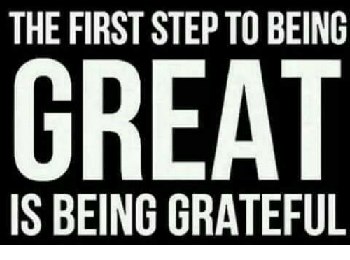 the first step to being great is being grateful 17700848 the first step to being great is being grateful meme on me me