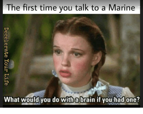 Talk to a marine