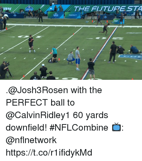 Memes, Respect, and 🤖: THE FITURE STA  RESPECT A .@Josh3Rosen with the PERFECT ball to @CalvinRidley1 60 yards downfield! #NFLCombine  📺: @nflnetwork https://t.co/r1ifidykMd