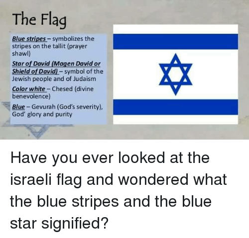 The Flag Blue Stripes Symbolizes The Stripes On The Tallit Prayer