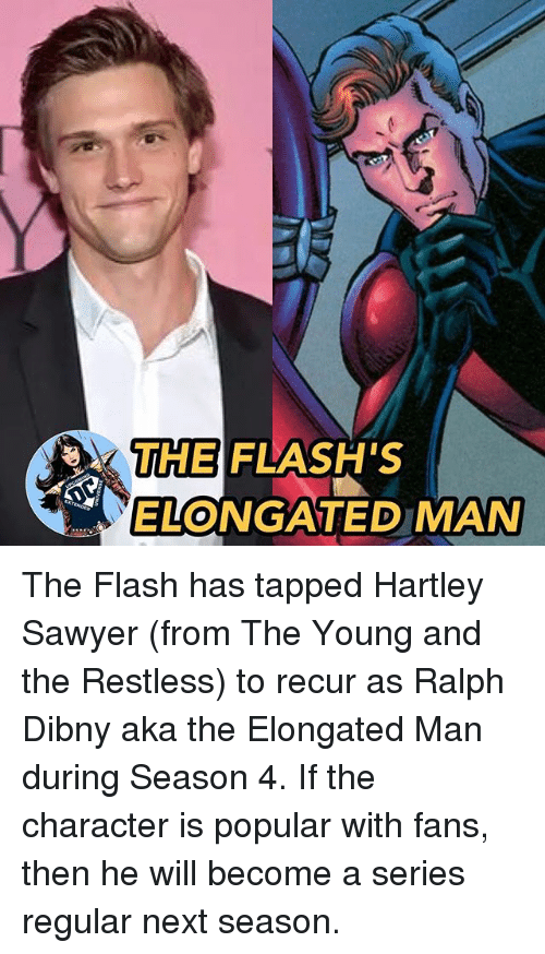 The Flash S Longated Man The Flash Has Tapped Hartley Sawyer From
