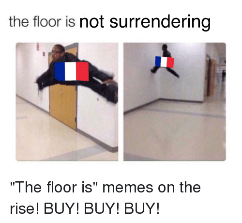 Memes,  Floored, and Buy-Buy-Buy: the floor is  not surrendering
