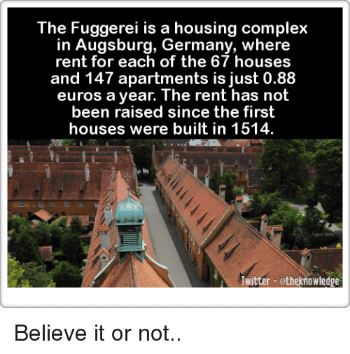 Complex, Memes, And Euro: The Fuggerei Is A Housing Complex In Augsburg,