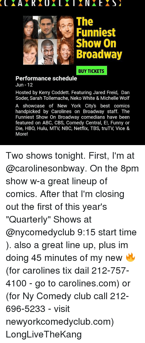 Abc Club And Funny The Funniest Show On Broadway Buy Tickets Performance Schedule