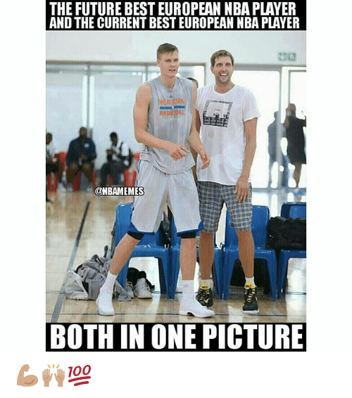 Future, Nba, and Best: THE FUTURE BEST EUROPEAN NBA PLAYER  AND THE CURRENT BEST EUROPEAN NBA PLAVER  BAS  It  @NBAMEMES  BOTH IN ONE PICTURE 💪🏽🙌🏽💯