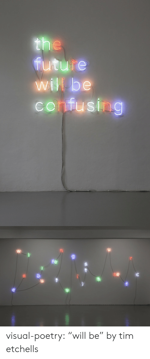 "Future, Tumblr, and Blog: the  future  will be  confusing   fe  he visual-poetry:  ""will be"" by tim etchells"