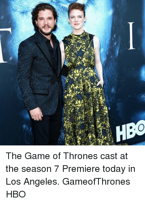 Game of Thrones, Hbo, and Memes: The Game of Thrones cast at the season 7 Premiere today in Los Angeles. GameofThrones HBO