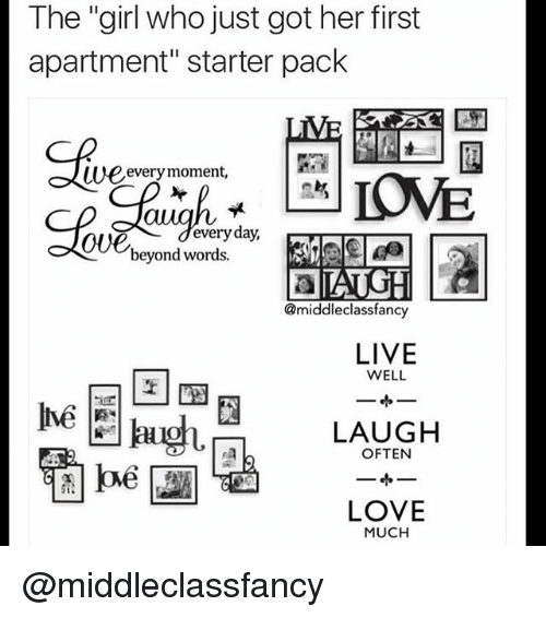 S Love And Starter Packs The Who Just Got Her First