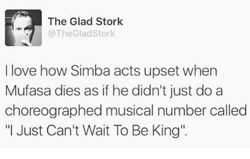 I Just Cant Wait To Be King