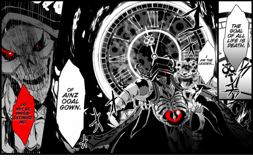 The Goal Of All Life Is Death Am The Leader Of Ainz Ooal Gown Not Be