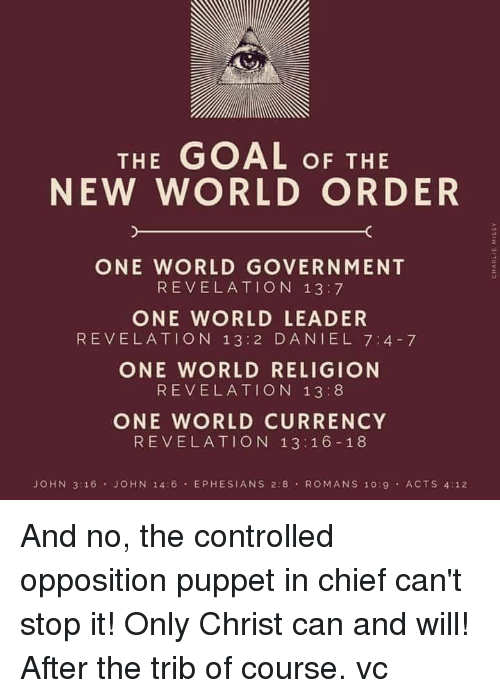The Goal Of The New World Order One World Government Revelation 13 7