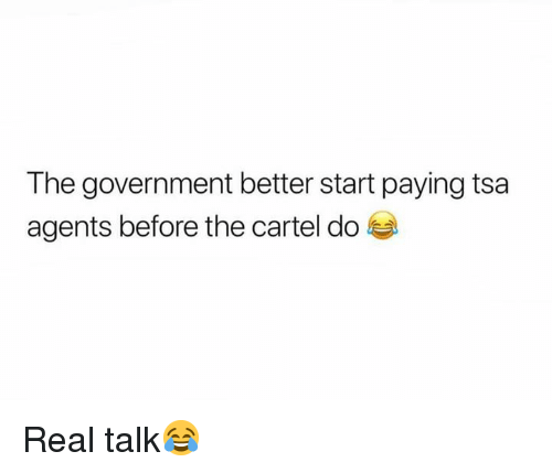 Government, Hood, and Tsa: The government better start paying tsa  agents before the cartel do Real talk😂