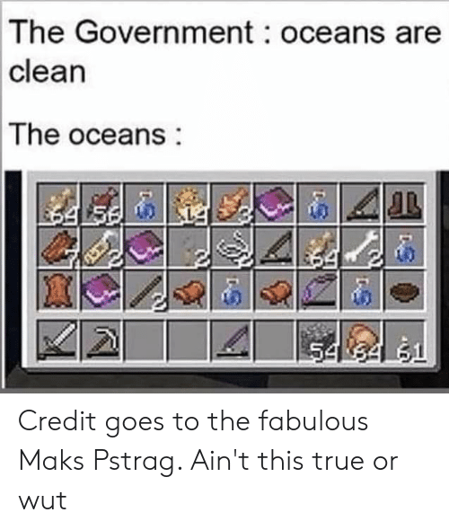 The Government Oceans Are Clean the Oceans 54 34 51 Credit
