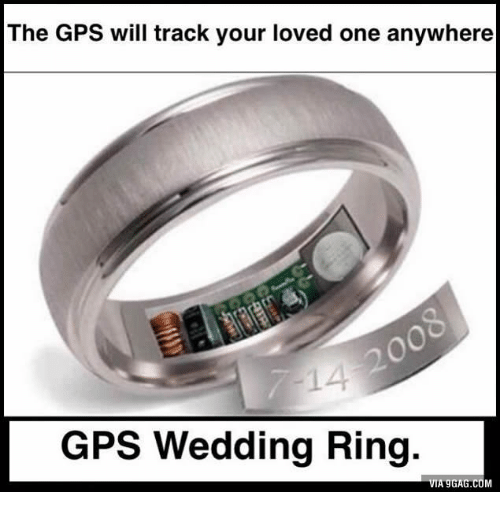 The GPS Will Track Your Loved One Anywhere GPS Wedding Ring a