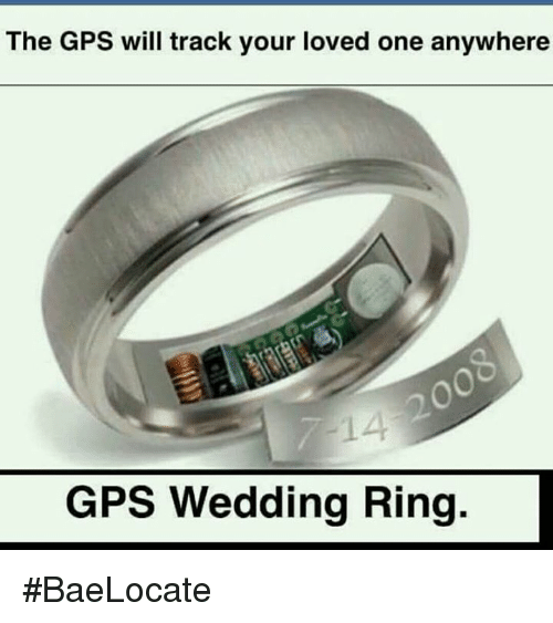 The GPS Will Track Your Loved One Anywhere GPS Wedding Ring