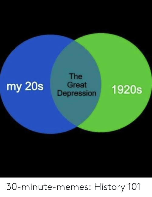 Memes, Tumblr, and Blog: The  Great  Depression  my 20s  1920s 30-minute-memes:  History 101