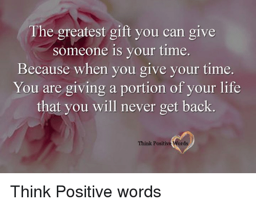 how to make someone think positive
