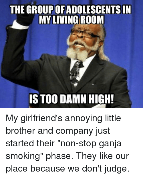 the group ofadolescents in myliving room is too damn high 27402338 ✅ 25 best memes about annoying little brothers annoying little