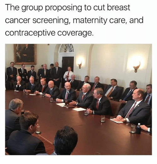 Memes, 🤖, and Breast: The group proposing to cut breast  cancer screening, maternity care, and  contraceptive coverage.
