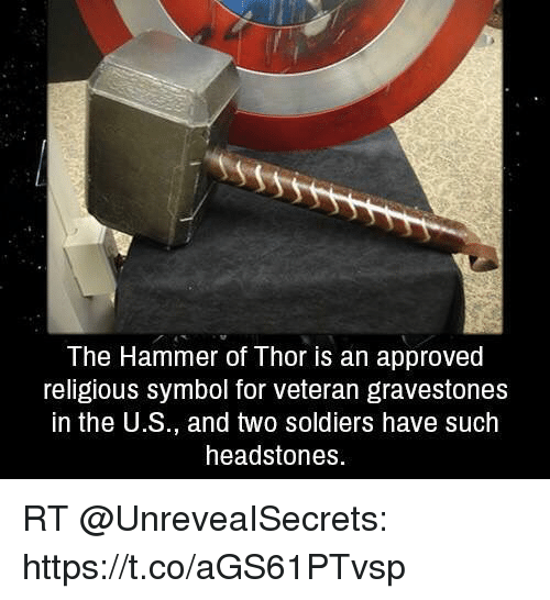 The Hammer Of Thor Is An Approved Religious Symbol For Veteran