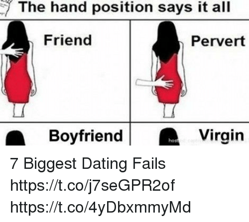 Dating fails hand position