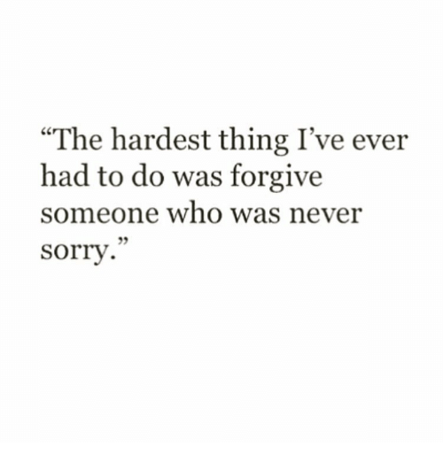 the hardest thing i ever had to do
