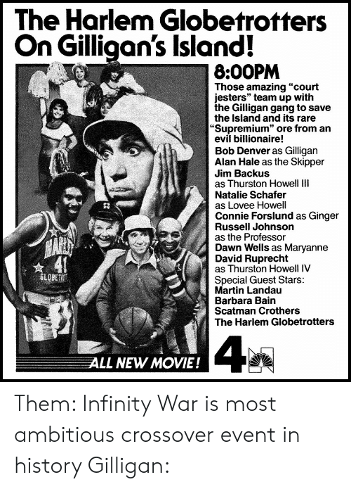 The Harlem Globetrotters on Gilligan's Island! 800PM Those