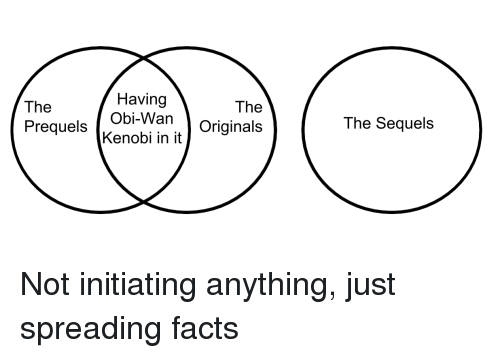 Facts, Originals, and The The: The  Having  The  The Sequels  Kenobi in it / Originals Not initiating anything, just spreading facts