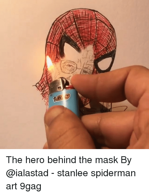 9gag, Memes, and The Mask: The hero behind the mask By @ialastad - stanlee spiderman art 9gag