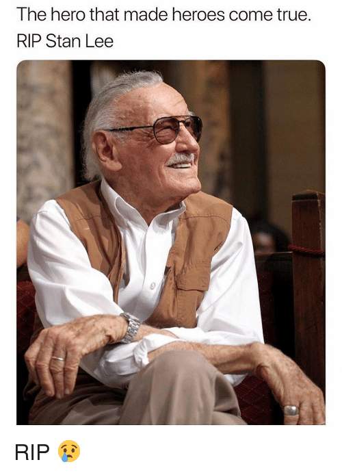 Memes, Stan, and Stan Lee: The hero that made heroes come true  RIP Stan Lee RIP 😢
