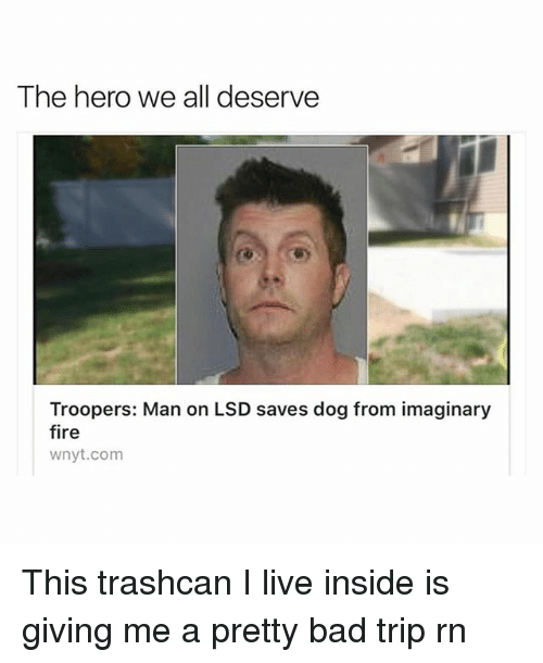 the hero we all deserve troopers man on lsd saves 25886020 ✅ 25 best memes about bad trip bad trip memes,Bad Trip Meme