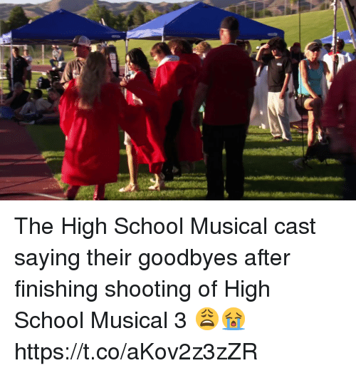 High School Musical, School, and Relatable: The High School Musical cast saying their goodbyes after finishing shooting of High School Musical 3 😩😭 https://t.co/aKov2z3zZR