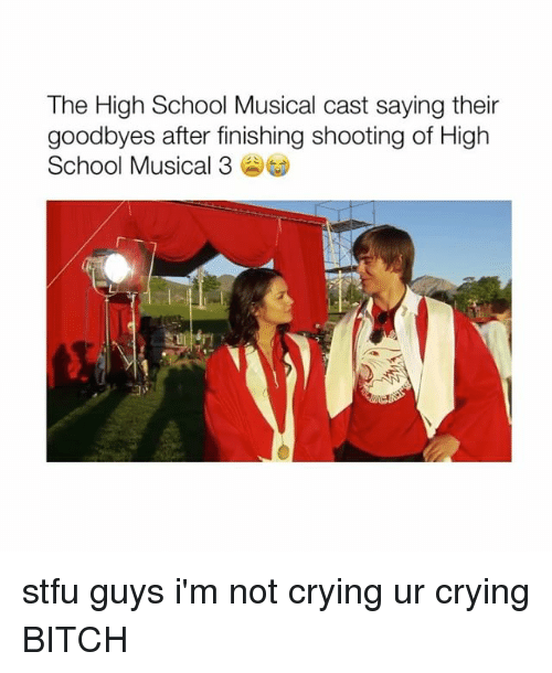 Bitch, Crying, and High School Musical: The High School Musical cast saying their  goodbyes after finishing shooting of High  School Musical 3 stfu guys i'm not crying ur crying BITCH