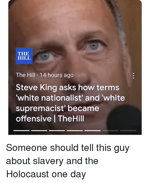 Image result for steve king white supremacist