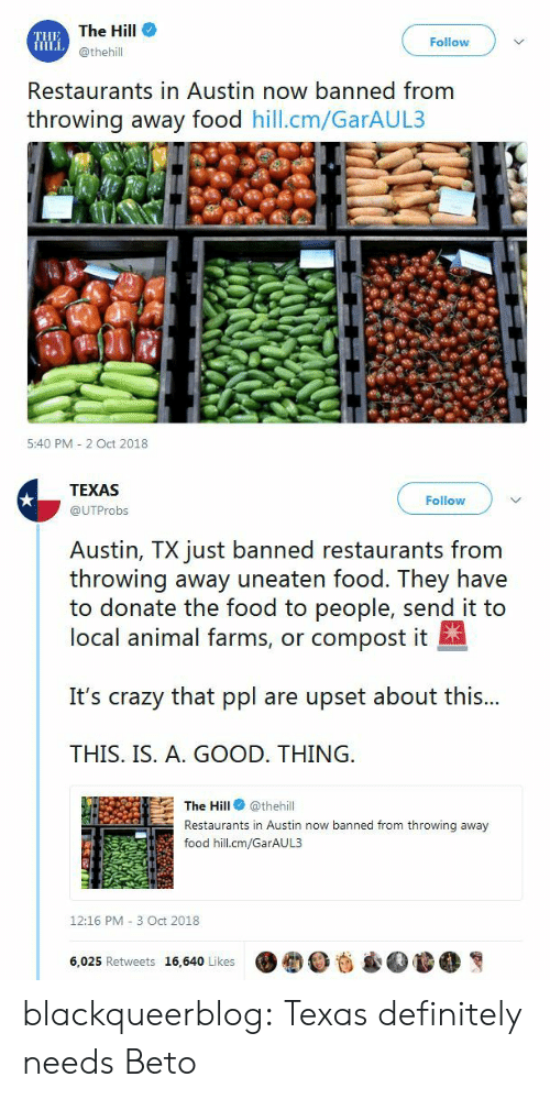 The Hill Follow Restaurants In Austin Now Banned From