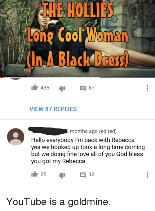 The Hollies One Cool Woma In A Black Dress 435 8 View 87 Replies