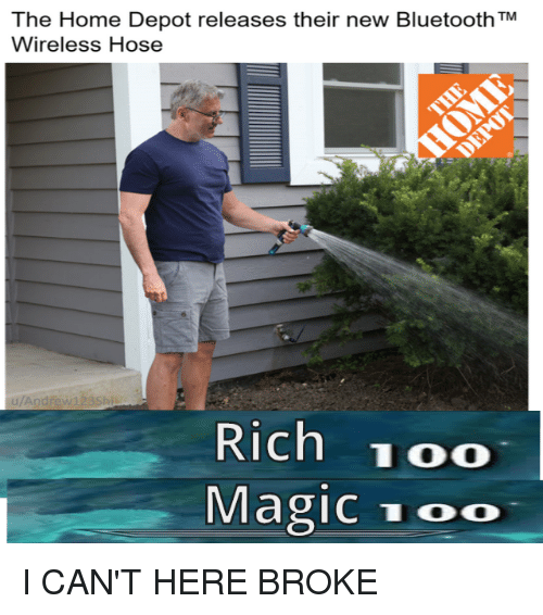 The Home Depot Releases Their New Bluetooth TM Wireless Hose Rew123S