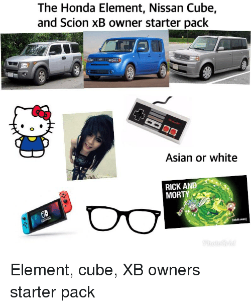 Asian Honda And Rick Morty The Element Nissan Cube