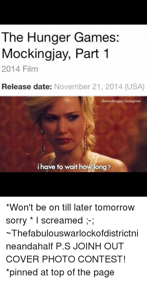 Hunger games part 3 release date in Sydney