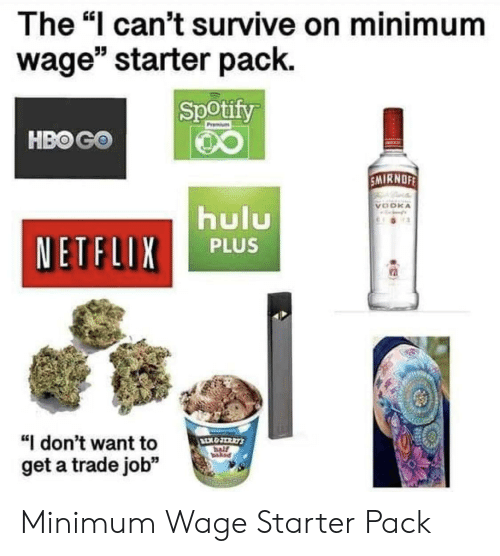 The I Can't Survive on Minimum Wage Starter Pack Spotify