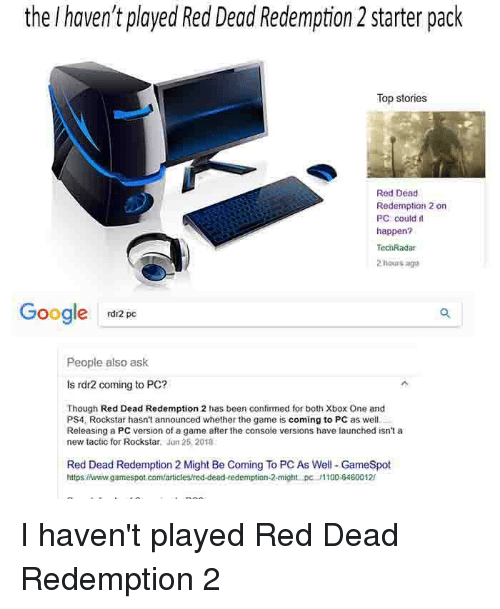 is red dead redemption 2 coming to pc