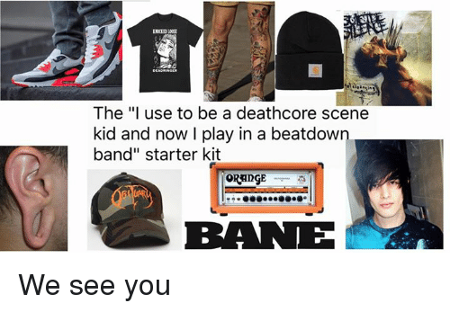 """Memes, Starter Kit, and 🤖: The """"I use to be a deathcore scene  kid and now I play in a beatdown.  band"""" starter kit  BRANE We see you"""