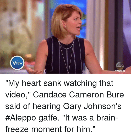 the iew view20 my heart sank watching that video candace 7743556 ✅ 25 best memes about gary johnson aleppo gary johnson aleppo
