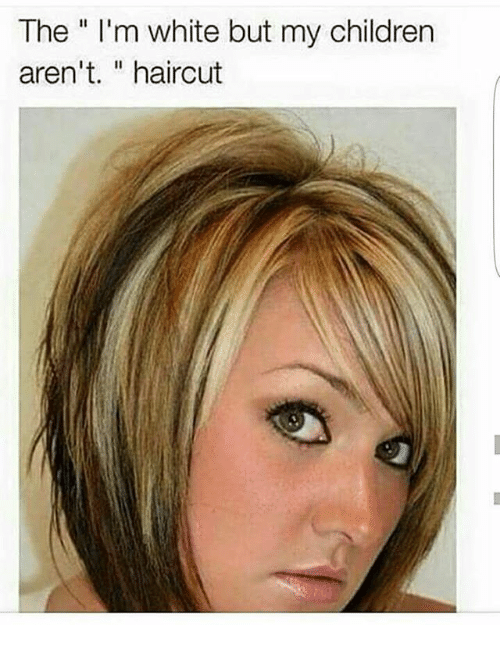 The Im White But My Children Arent Haircut Meme On Me