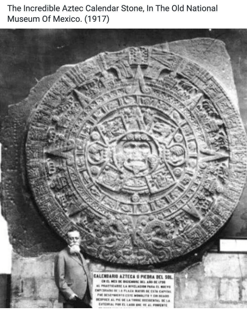 Aztec Calendar Stone.The Incredible Aztec Calendar Stone In The Old National Museum Of