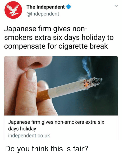 Break Japanese And Cigarette The Independent Lndependent Japanese Firm Gives Non